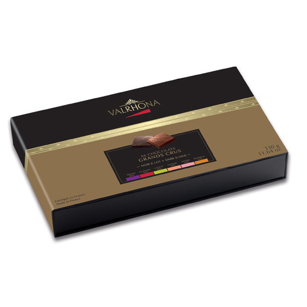 6 GRANDS CRUS COLLECTION 330G GIFT BOX (66 SQUARES)